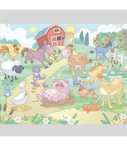 Fotobehang babyboerderij XXL