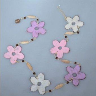 Bloemen guirlande wit roze