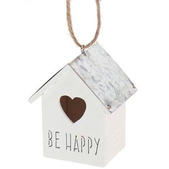 Hanger vogelhuisje be happy