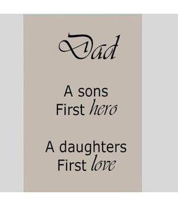 Tekstbord Dad