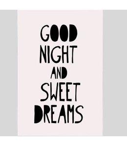 Tekstbord good night