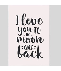 Tekstbord love you to the moon