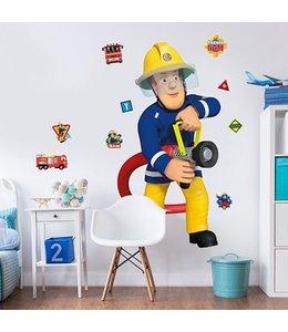 Muursticker brandweerman Sam XXL