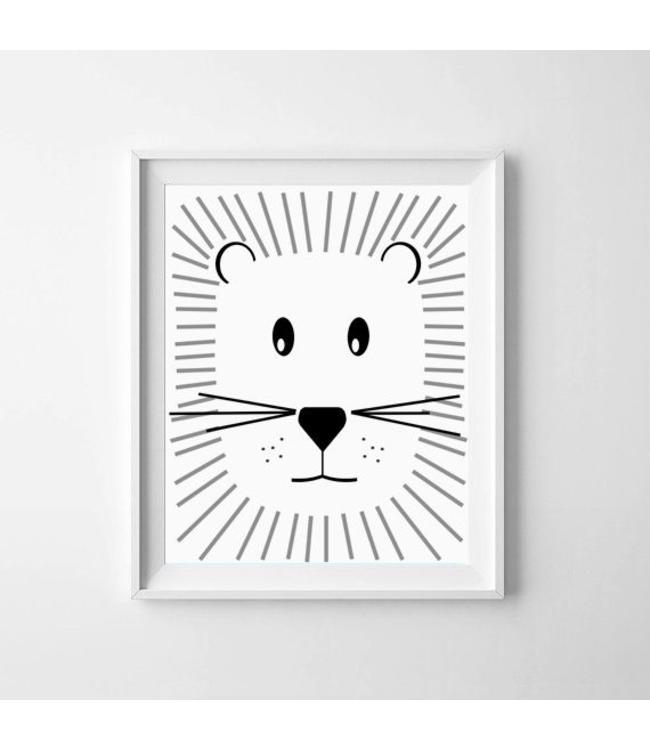 Kinderposter schattige leeuw