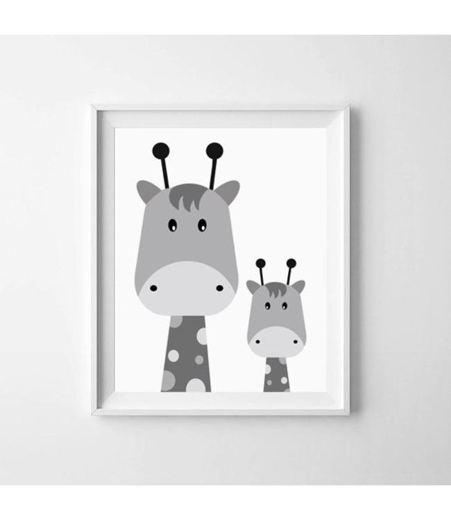 Kinderposter twee giraffejes