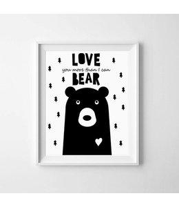 Kinderposter love beer