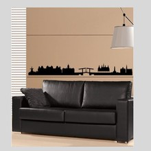 Coart Muursticker Amsterdam Skyline by Coart