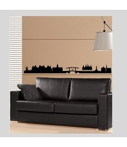 Muursticker Amsterdam Skyline by Coart