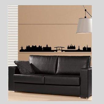 Coart Muursticker Amsterdam Skyline by Coart