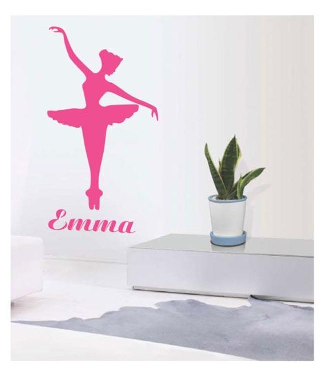 Muursticker ballerina Emma by Coart