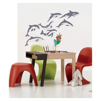 Coart Muursticker dolphins by Coart