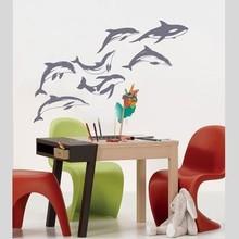 Coart Muursticker dolphins by Coart