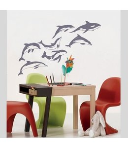 Muursticker dolphins by Coart