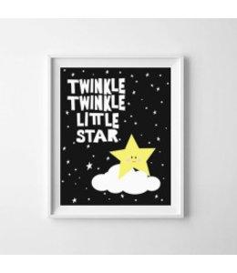 Kinderposter twinkle twinkle little star A3