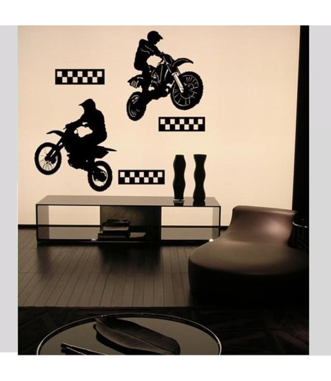 Muursticker motocross by Coart