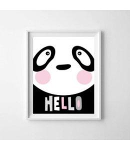 Kinderposter lieve panda A3