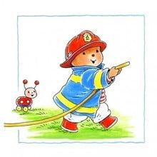 Muursticker Baby Bobbi als brandweer