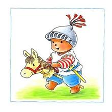 Muursticker Baby Bobbi als ridder