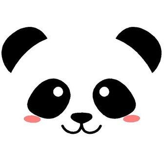 Muursticker lieve pandabeer
