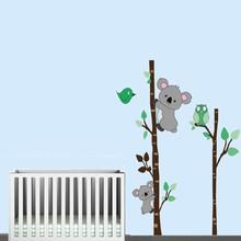 Muursticker boom met koalabeertjes