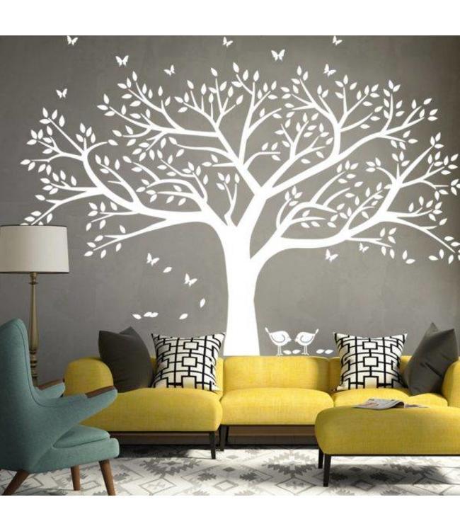 Muursticker grote boom - muurstickers woonkamer slaapkamer ...