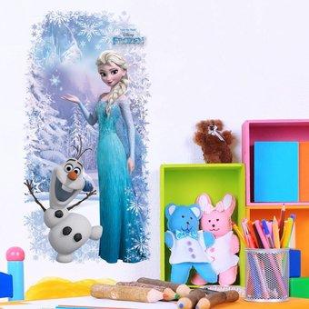 Muursticker frozen Elsa en Olaf