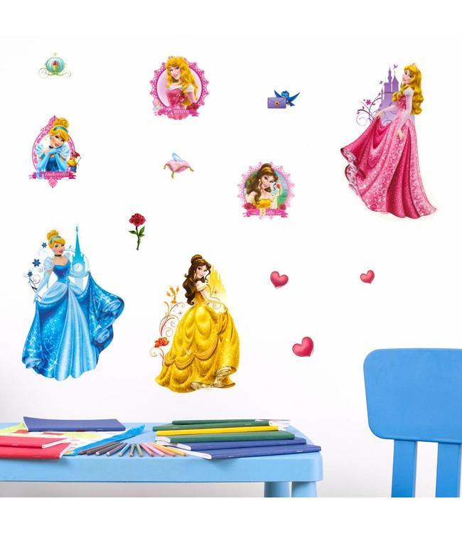 Muursticker Disney prinsessen 3D