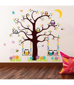 Muursticker uilenboom