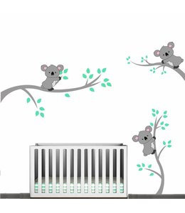 Muursticker takken met koalabeertjes
