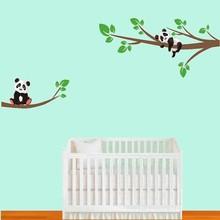 Muursticker takken met pandabeertjes