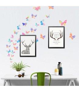 Muursticker mooie vrolijke vlinders