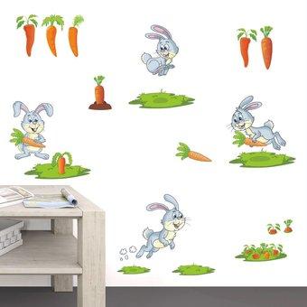 Muursticker konijntjes