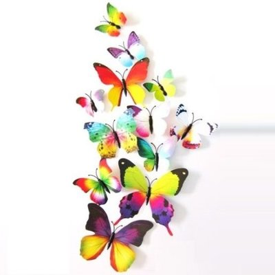 3D vlinders muurstickers