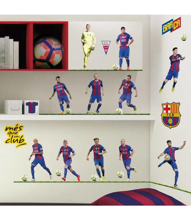 Muursticker FC Barcelona spelers