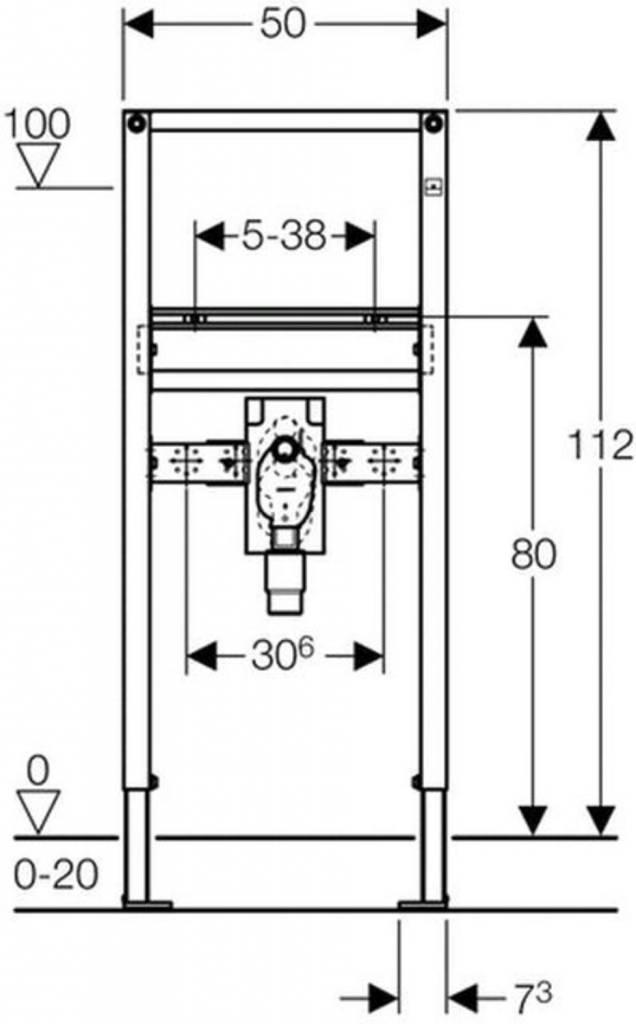 geberit waschtisch montageeinheit duofix 1120mm f. Black Bedroom Furniture Sets. Home Design Ideas