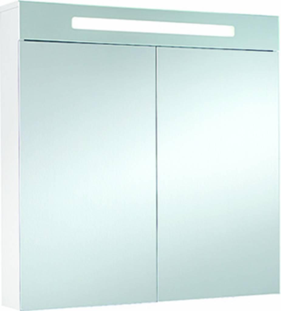 VIGOUR Spiegelschrank clivia 2-türig weiß matt LED 7,2W ...