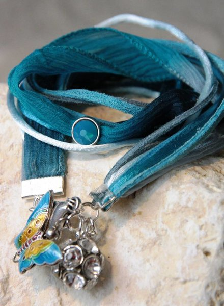 Bynookz Wrap bracelet turquoise and silver