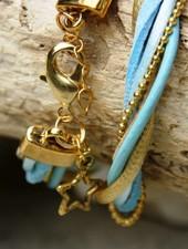 Bynookz Wrap bracelet babyblue