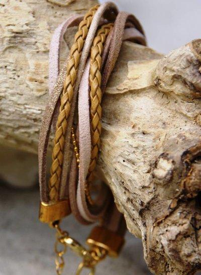 Bynookz Wrap bracelet beige gold