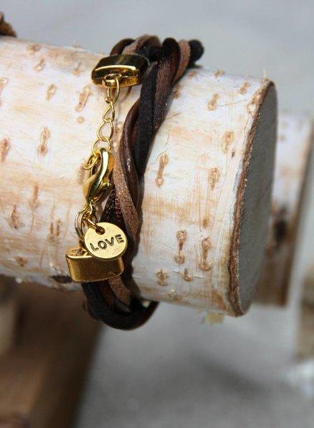 Bynookz Wrap bracelet brown