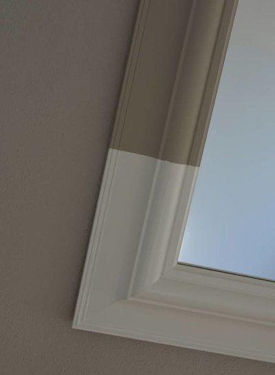 Curious Project Woonaccessoires: Vierkante Dip- Dye spiegel