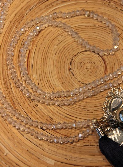 HanneHaves Crystal Necklace Blue Brush