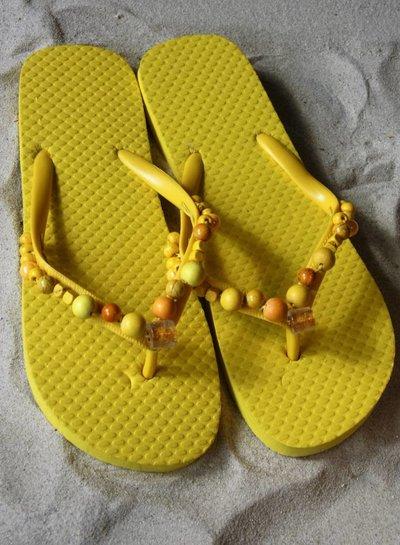 HanneHaves Teenslippers Sunny Yellow maat 38/39