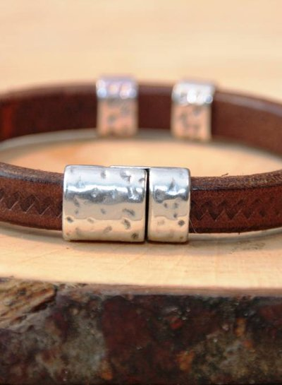 MensHaves Armband Leather Brown