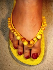 HanneHaves Teenslippers Sunny Yellow maat 38/39