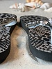 HanneHaves Teenslippers Black/Silver Snake 36/37