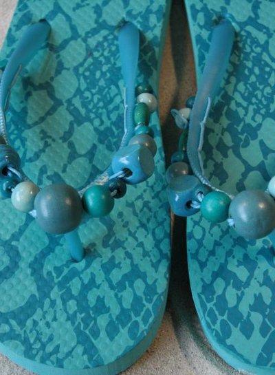 HanneHaves Teenslippers Turquoise maat 38/39