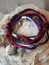Bynookz Bohemien Bracelet Red Purple