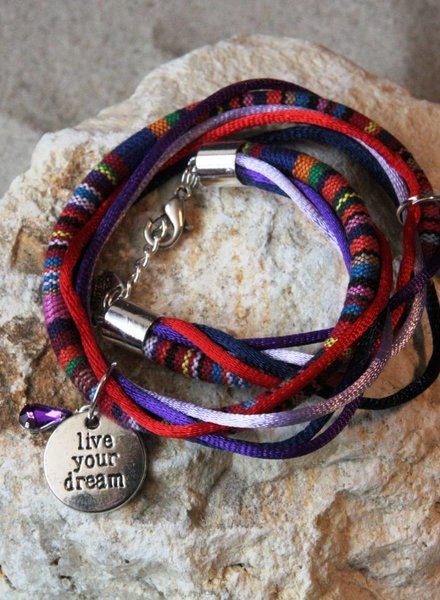 Bynookz Bohemien Bracelet Red Purple