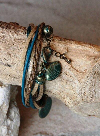 Bynookz Ibiza Bracelet Turkoois Patinakoper